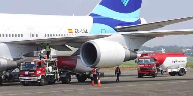Ilustrasi kebutuhan bahan bakar pesawat