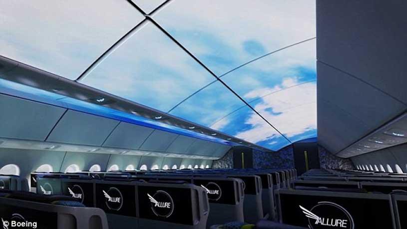 Boeing Rancang Desain Atap Tembus Pandang
