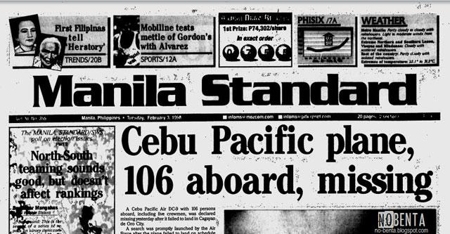 Cebu Pacific Flight 387 Hancur di Gunung