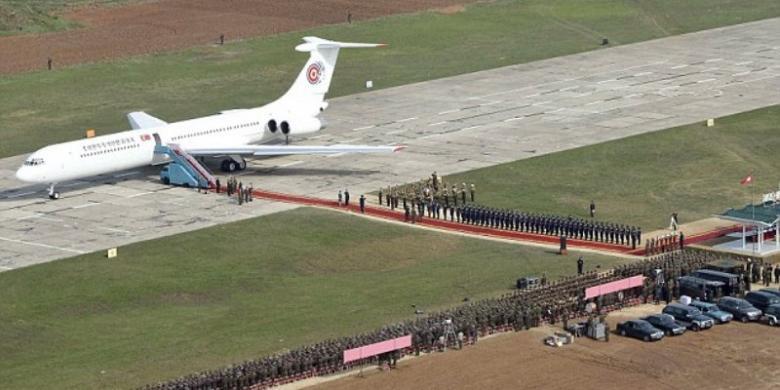 Pesawat Kim Jong Un