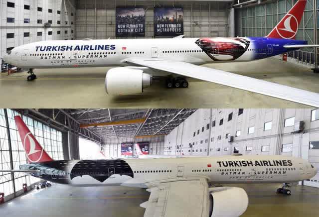 Turkish Airlines Buka Rute Baru Penerbangan ke Gotham City & Metropolis