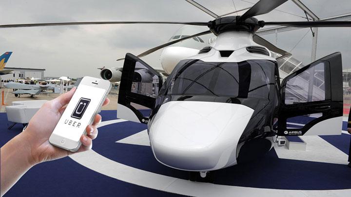 Uber Bermitra dengan Airbus Buka Layanan Taksi Helikopter