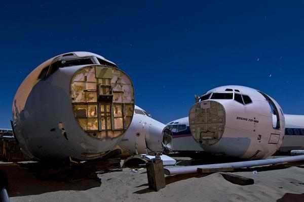 Ilustrasi bangkai pesawat
