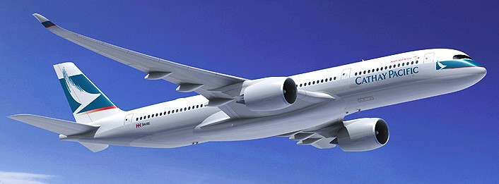 Ilustrasi Airbus A350 Cathay Pacific