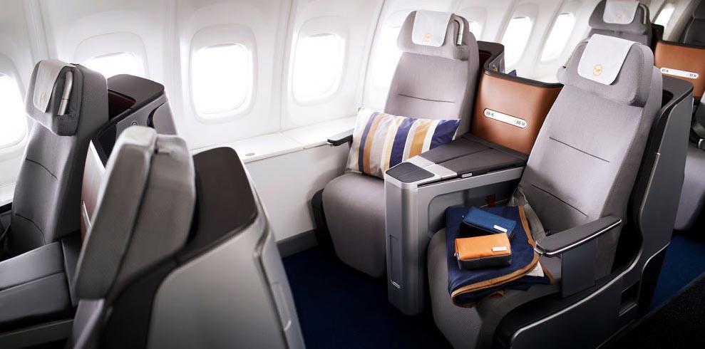 Kursi penumpang kelas bisnis Lufthansa A350