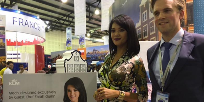 Farah Quinn Ambassador Indonesia dalam Penerbangan KLM