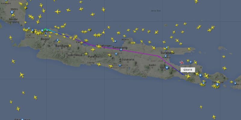 Penerbangan Lewat Jalur Selatan Jawa Diujicoba Agustus