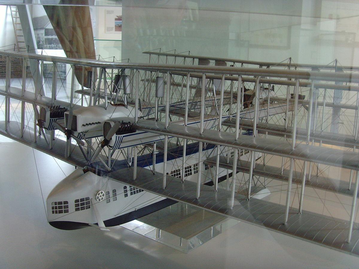 Model skala Transaereo, dipajang di museum penerbangan Volandia