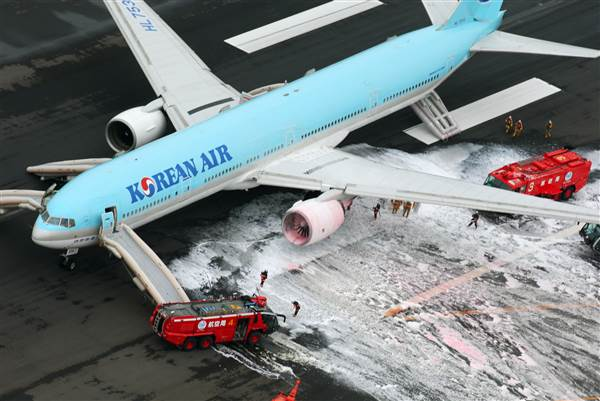 Korean Air Lines Terbakar