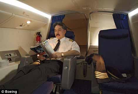 Ruang untuk pilot istirahat di Boeing 777