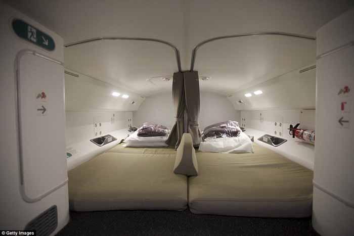 Tata letak tempat tidur di Boeing 787 Dreamliner
