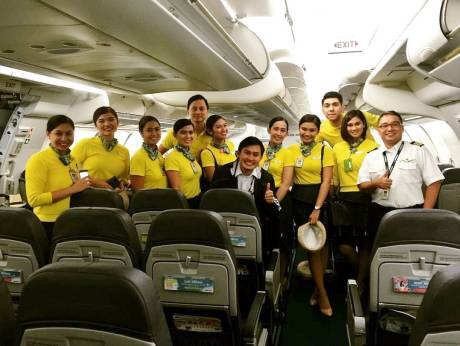 Flight Deck and Cabin Crew on duty during Baby Haven's delivery on August 14, 2016/Cebu Pasific.